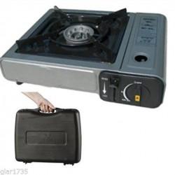 FORNELLO a valigetta cucina A GAS DA CAMPEGGIO PORTATILE A BOMBOLETTA GPL