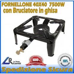 FORNELLO FORNELLONE A GAS 4 PIEDI CON BRUCIATORE IN GHISA CUCINARE POMODORO