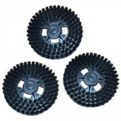 Kit 3 spazzole con setole di colore nero senza ganci adattabile LUCIDATRICE