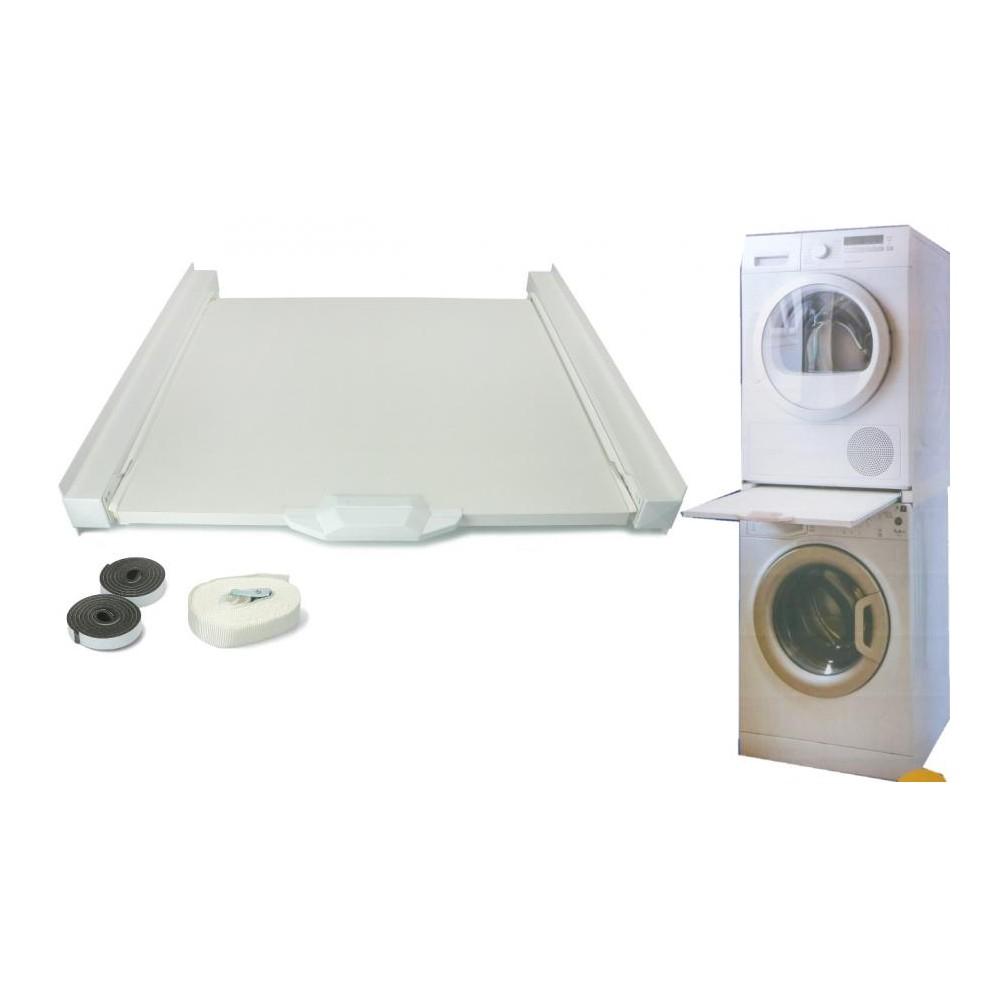 Colonna Per Lavatrice E Asciugatrice kit colonna sovrapposizione asciugatrice a lavatrice 60x60 ripiano  scorrevole