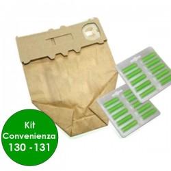 KIT Sacchetti Folletto KOBOLD VK 130 - 131 12 sacchetti carta + 20 profumini