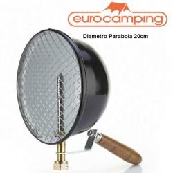 LAMPADA FARO DA PESCA A GAS 500 W MANICO IN LEGNO EUROCAMPING Diametro 20
