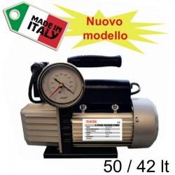 Pompa del Vuoto con Vuotometro 50 42 lt. Bistadio VALVOLA R134 R407 R410 R22 R32