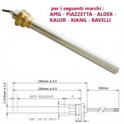 Resistenza Candeletta Accensione 3/8 270 watt 140mm Piazzetta - Amg - Ravelli