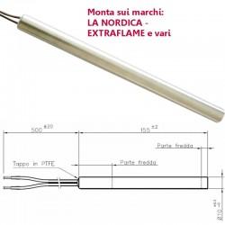 Resistenza Candeletta Stufa a Pellet 10mm 280W 155mm La Nordica Extraflame PASIAN