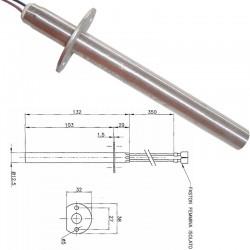 RESISTENZA CANDELETTA STUFA A PELLET 12,5mm 132mm 400 W ENVIRO FIRE.