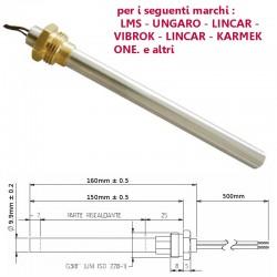 Resistenza Candeletta Stufa a pellet 3/8 280W 160mm UNGARO VIBROK LINCAR KARMEK