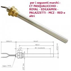 Resistenza Candeletta Stufa a Pellet 3/8 350W 170mm Palazzetti EdilKamin PASQUALICCHIO MCZ