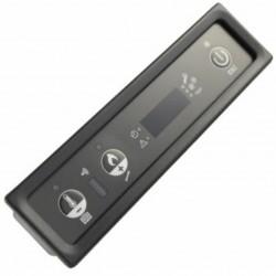 Tastiera display stufa a pellet LED Micronova PN005_A01 Tasti: 3 a pulsante Dimensioni: 140x37x25 mm