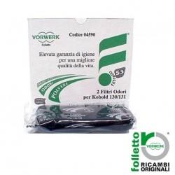Confezione 2pz. filtro odori carbone FOLLETTO VK 130 131 Originale