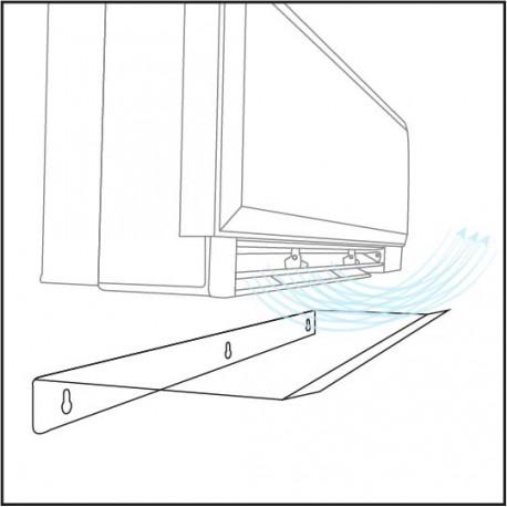 DEFLETTORE ARIA SPLIT 90X28X5CM deviare il flusso d\'aria del Climatizzatore Split