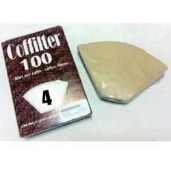 FILTRO CAFFE' CAFFETTIERA AMERICANA N.4 SCAT.100pz