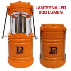 LANTERNA LAMPADA A LED D'EMERGENZA CASA - PESCA - CAMPEGGIO 200 LUMEN