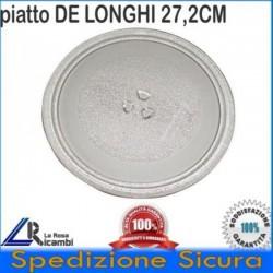 PIATTO IN VETRO FORNO MICROONDE DE LONGHI PANASONIC DIAM 27 CM