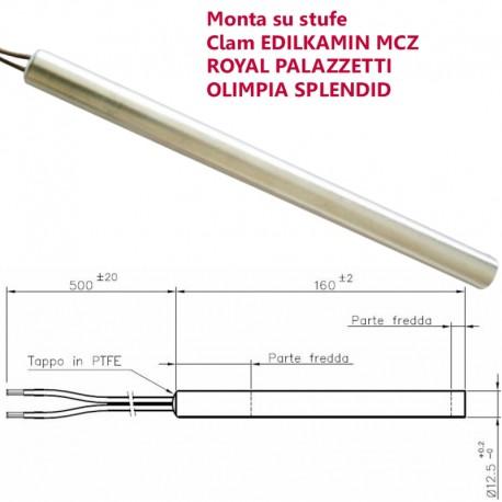 CANDELETTA ACCENSIONE STUFA PELLET L.160 D.12,5 THERMOROSSI OLIMPIA SPL 1019