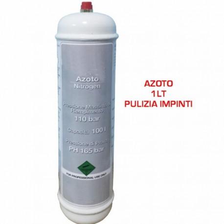 BOMBOLA DI AZOTO DA 1LT - 110 BAR PULIZIA IMPIANTI CONDIZIONAMENTO