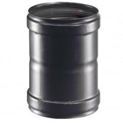 canna fumaria tubo MANICOTTO FUMI STUFA PELLET ADATTATORE FEM-FEM DIAM.80mm