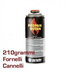 CARTUCCIA BOMBOLA BOMBOLETTA GAS PROPANO BUTANO 210 gr VALVOLA Cannello e Fornelli