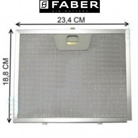 FILTRO CAPPA ALLUMINIO FABER MISURE 23,5cm x 18,8 Metallico 4268961
